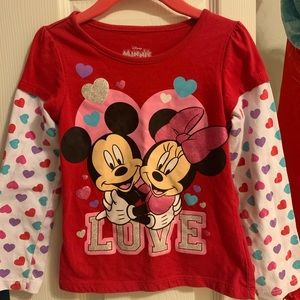 Minnie and Mickey Mouse long sleeved shirt
